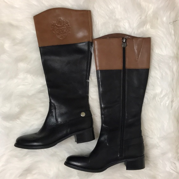 0b449843074 Etienne Aigner Chip Two-Tone Riding Boots